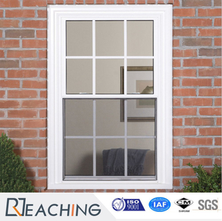 Conch Profile 60mm 2 Sashes Grill Design UPVC Hung Window