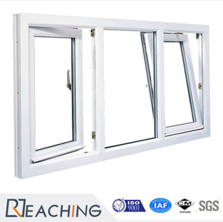 White Color UPVC Profile Tilt and Turn Window with Low - E Glass Pw025